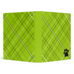 Plaid Paw Print Binder