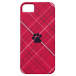 Plaid Paw Print iPhone 5 Cases