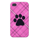 Plaid Paw Print iPhone 4 Cover