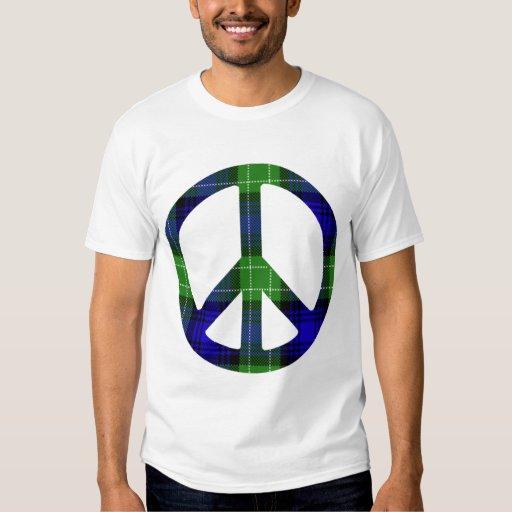 Plaid Peace Symbol Tees