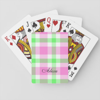 Plaid Personalized Playing Cards