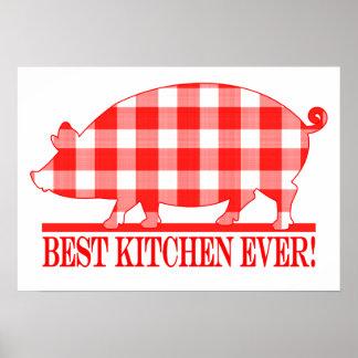Plaid Pig: Best Kitchen Ever Poster
