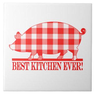 Plaid Pig: Best Kitchen Ever Tile