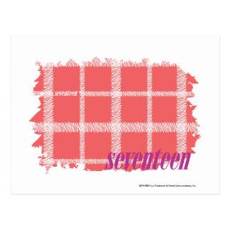 Plaid Pink 2 Postcard