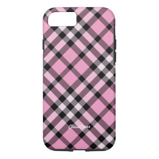 Plaid Pink Black iPhone 8/7 Case