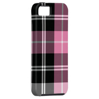 Plaid pink iPhone 5 cases