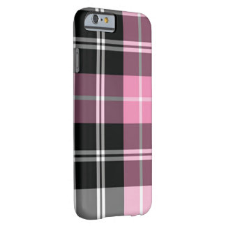 Plaid pink iPhone 6/6s Barely There iPhone 6 Case