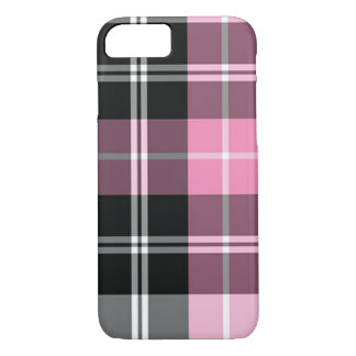 Plaid pink iPhone 8/7 case