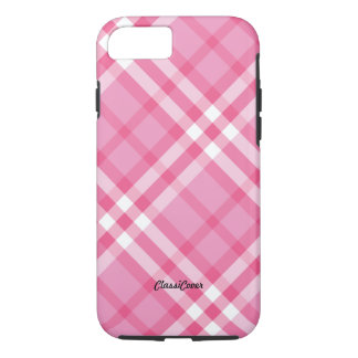 Plaid Pink Peppermint iPhone 8/7 Case
