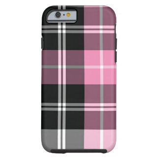 Plaid pink tough iPhone 6 case