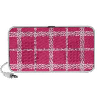 Plaid  Pink Travel Speakers