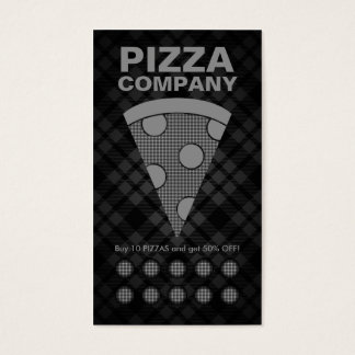 plaid pizza punch card