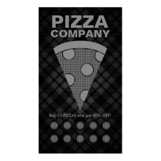 plaid pizza punch card Double-Sided standard business cards (Pack of 100)