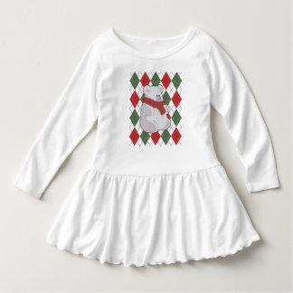 Plaid Polar Bear Ugly Christmas Sweater
