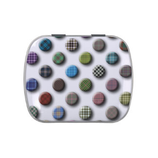 Plaid Polka Dot Pattern Candy Tin
