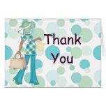 Plaid Polka Dot Thank You Notecard (AA) Card