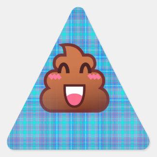 plaid poop emoji triangle sticker