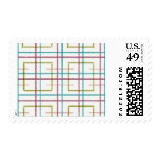 Plaid Postage stamps