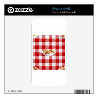 plaid poutine decals for iPhone 4