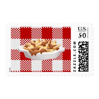 plaid poutine postage postal stamps