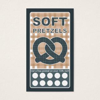 plaid pretzel business card