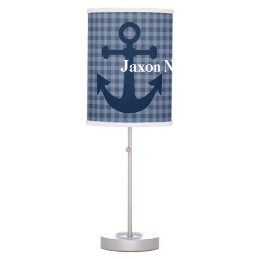 Plaid Print with anchor Lamp Changable Colors!!