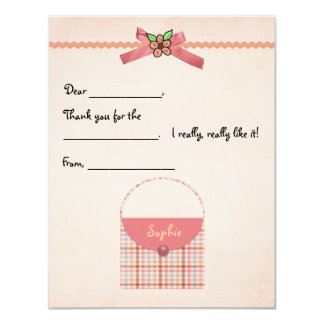 Plaid Purse Fill-in Thank You Card