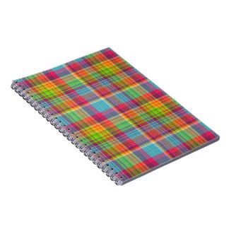 Plaid Rainbow Journal Notebook