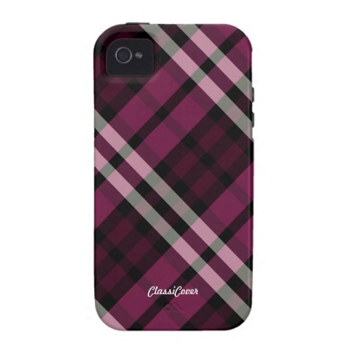 Plaid Raspberry Red Case Mate Case-Mate iPhone 4 Cases