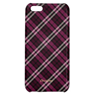 Plaid Raspberry Red Pattern Savvy Cover For iPhone 5C