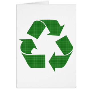 plaid recycle card