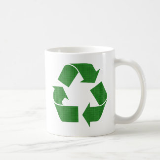 plaid recycle coffee mug