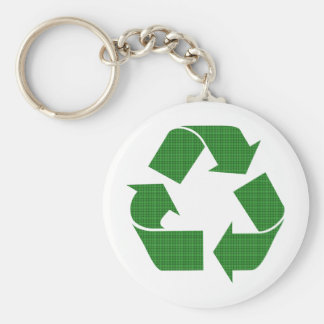 plaid recycle keychain