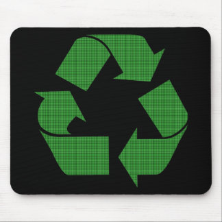 plaid recycle mouse pad