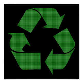 plaid recycle poster