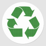 plaid recycle sticker
