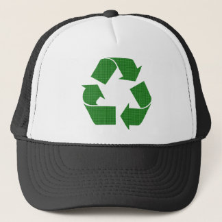 plaid recycle trucker hat