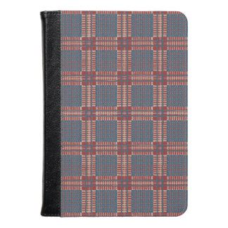 Plaid red and blue kindle case