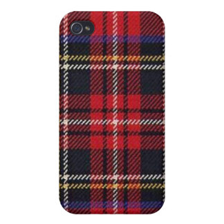 Plaid Red-Blue Cases For iPhone 4