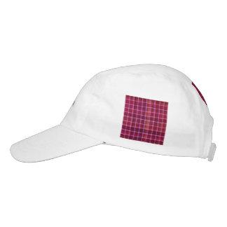 plaid, red headsweats hat