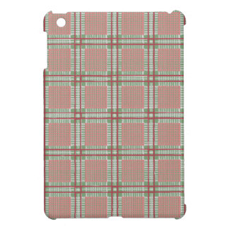 Plaid red, pink and green cover for the iPad mini