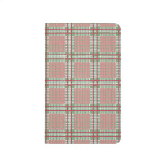 Plaid red, pink and green journal