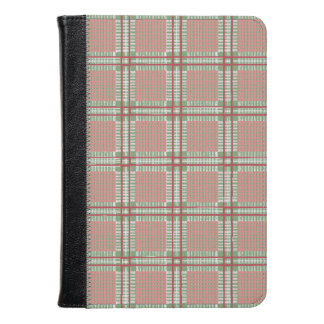 Plaid red, pink and green kindle case