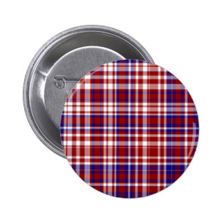 Plaid,Red,White,Blue Coll. 01-BUTTON Button