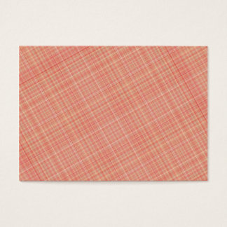 Plaid Red Yellow Business Card