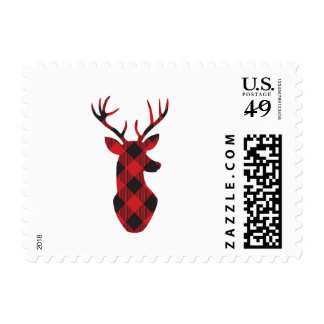 Plaid reindeer stamps- small postage