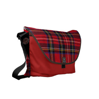 plaid royale messenger bag