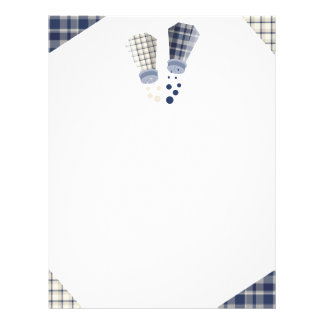 Plaid salt and pepper shakers cooking culinary letterhead