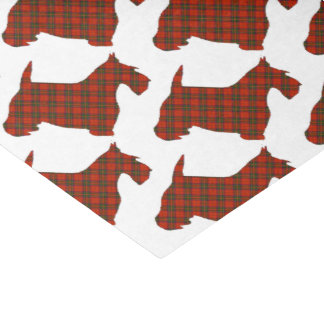 Plaid Scottie Dog Tissue Paper