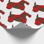 """Plaid Scottie Dog Wrapping Paper<br><div class=""""desc"""">Invite him to spend the Holiday Season with you.</div>"""